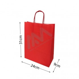Red Paper Bags 24x31x9