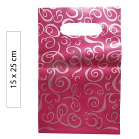 Pink Fantasy 15x25 plastic bags - Pack of 100 units.