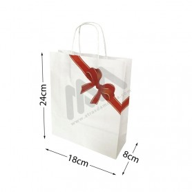 Twisted wing paper bags Christmas 18x24x8 Pack of 25 Uni