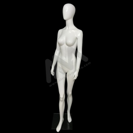 Female Mannequin with white head.