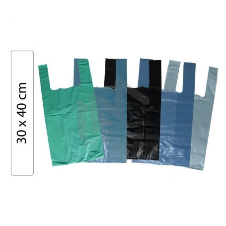 Handle Color Plastic Bags 30x40 - 5kg