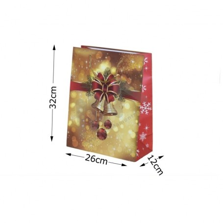 Christmas ROPE HANDLE PAPER BAG 26x32x12- 12 UNITS