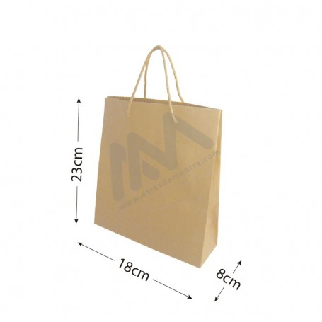 Krafft Rope Handle Paper Bag 18x23x10 - 10 units
