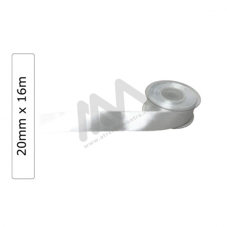 White satin wrapping tape 20 mm x 16m