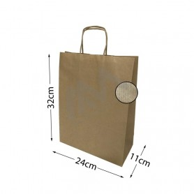 Brown Kraft paper bags 24x32x11