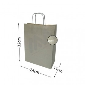 Kraft Silver Twisted Handle paper bags 24x32x11